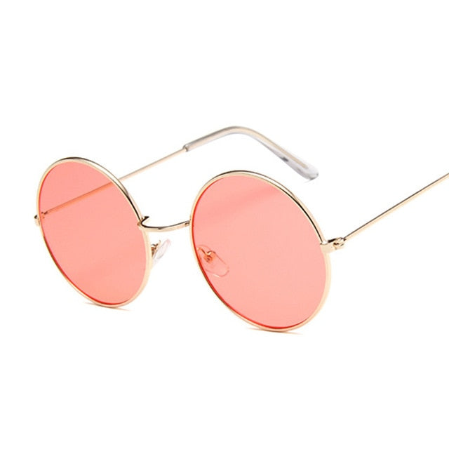 Small Round Sunglasses Women Famous Brand Designer Vintage Sun Glasses Female Retro Personality Metal Eyewear Style