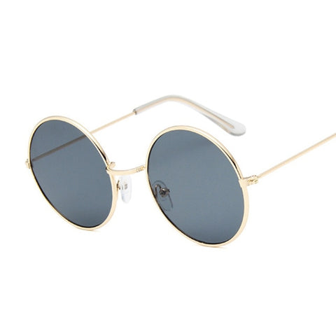 Image of Small Round Sunglasses Women Famous Brand Designer Vintage Sun Glasses Female Retro Personality Metal Eyewear Style