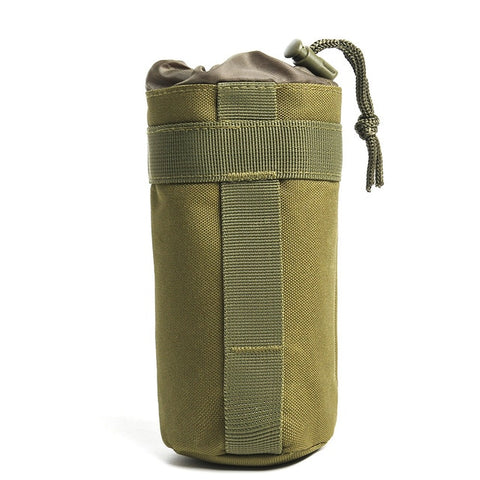 Image of Upgraded Tactical Molle Water Bottle Pouch Bag Military Outdoor Travel Hiking Drawstring Water Bottle Holder Kettle Carrier Bag