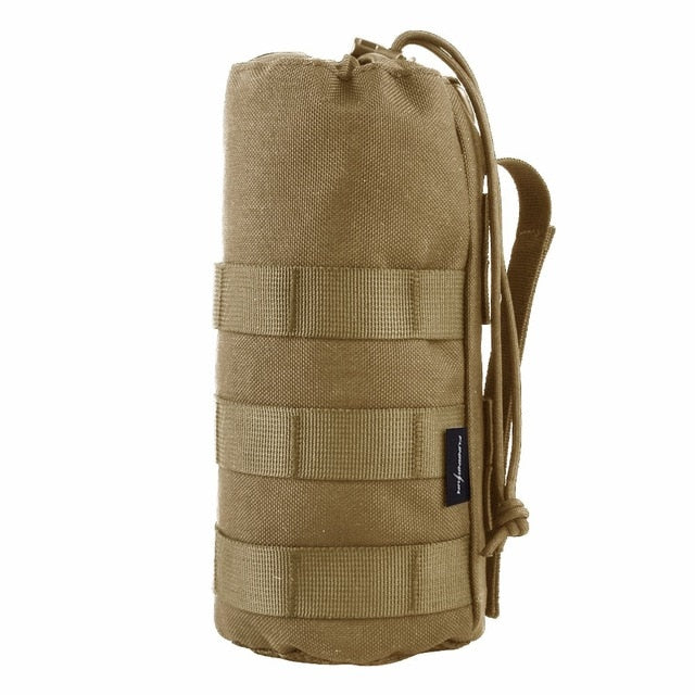 Upgraded Tactical Molle Water Bottle Pouch Bag Military Outdoor Travel Hiking Drawstring Water Bottle Holder Kettle Carrier Bag