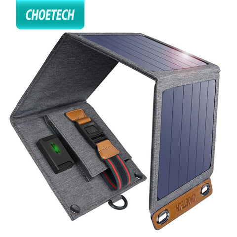 Solar folding Charger 14W USB Output Devices Portable Waterproof Solar Panels for iPad iPhone X XS samsung Smartphones
