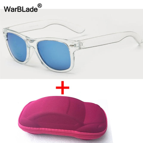 Image of WarBLade Cool Kids Sunglasses Children Anti-uv Sun Glasses Boys Girls Baby Eyeglasses Coating Lens UV 400 Protection With Case