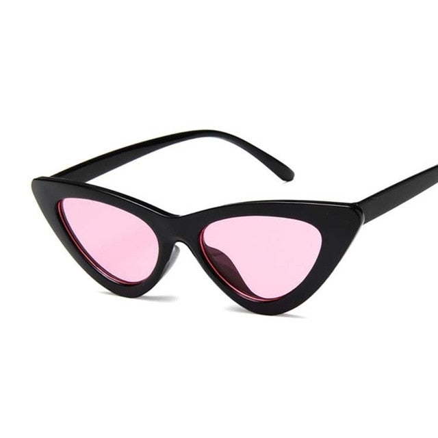 Vintage Cateye Sunglasses Women Sexy Retro Small Cat Eye Sun Glasses Brand Designer Colorful Eyewear For Female