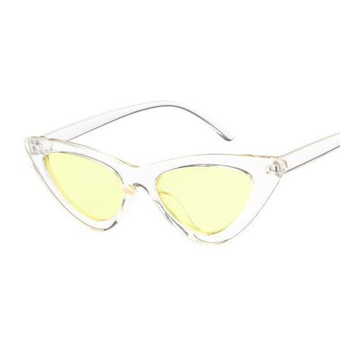 Image of Vintage Cateye Sunglasses Women Sexy Retro Small Cat Eye Sun Glasses Brand Designer Colorful Eyewear For Female