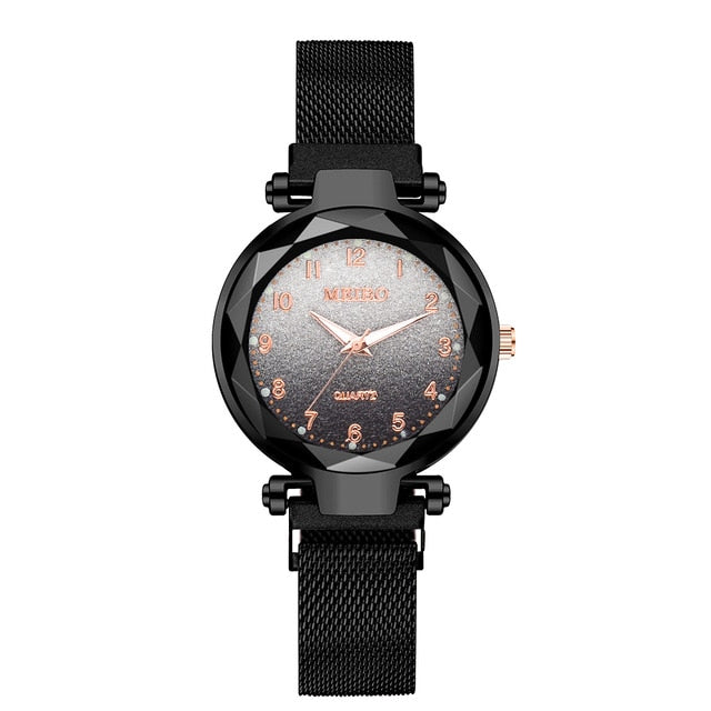 Women Magnet Buckle Gradient Color Watches Luxury Ladies Fashion Female Wristwatches For Gift Clock