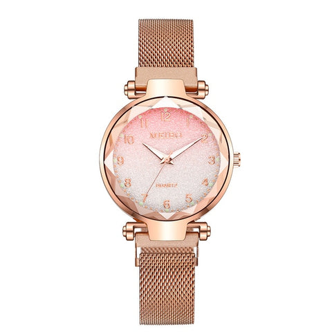 Image of Women Magnet Buckle Gradient Color Watches Luxury Ladies Fashion Female Wristwatches For Gift Clock
