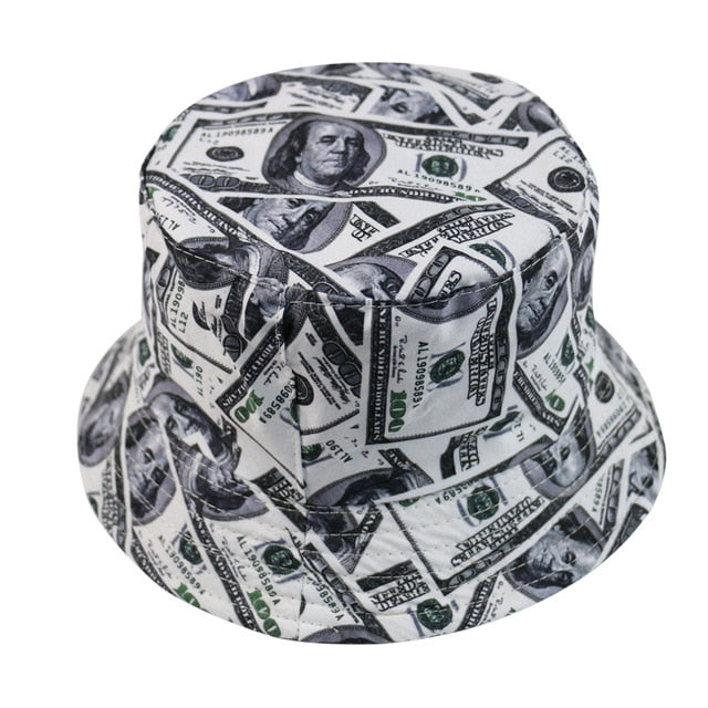 Fashion Reversible Black White Cow Pattern Bucket Hats Fisherman Caps For Women