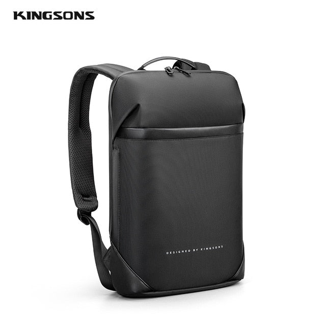 lim Laptop Backpack Men 15.6 inch Office Work Men Backpack Business Bag Unisex Black Ultralight Backpack