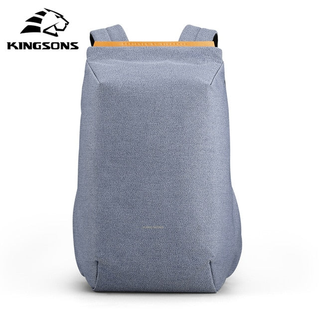 Kingsons waterproof backpacks USB charging school bag anti-theft men and women backpack for laptop travelling