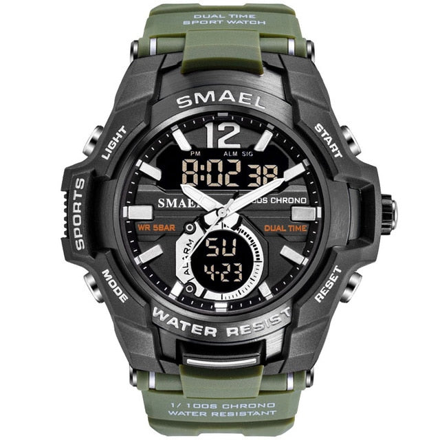 Men Watches Sport Watch Waterproof 50M Wristwatch 1805 Men's Clock Digital Military Army Watch