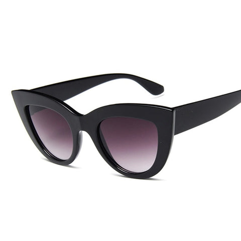 Image of Cat Eye Fashion Sunglasses Women Vintage Luxury Brand Designer Black Glasses Sun Glasses For female UV400 Eyewear Shades