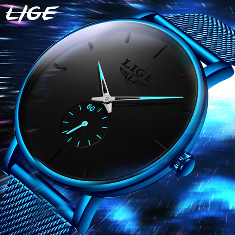 Image of Watch Men LIGE Fashion Business Men Watches Top Brand Luxury Waterproof Casual Simple Quartz Watch