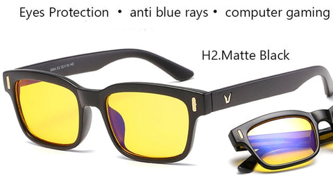 Image of Blue Ray Computer Glasses Men Screen Radiation Eyewear Brand Design Office Gaming Blue Light Goggle UV Blocking Eye Spectacles