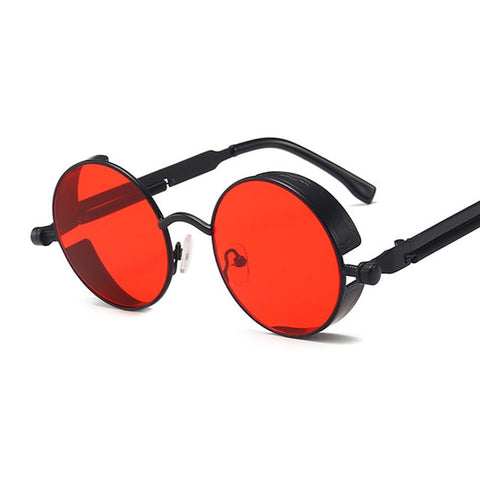 Image of Classic Gothic Steampunk Sunglasses Women Brand Designer Vintage Round Metal Frame Sun Glasses Female Male High Quality UV400