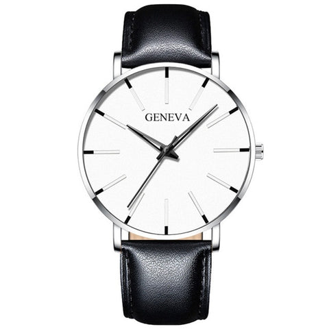 Image of Minimalist Men's Fashion Ultra Thin Watches Simple Men Business Stainless Steel Mesh Belt Quartz Watch
