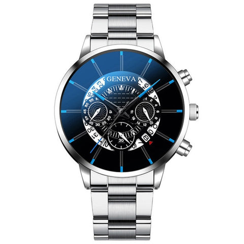Image of Watch men stainless steel male clock senior brand men sports watch casual calendar watch