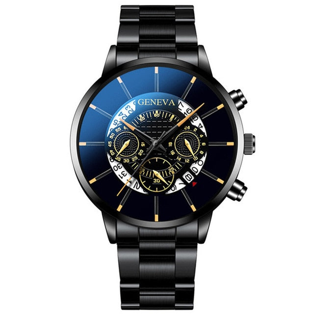 Watch men stainless steel male clock senior brand men sports watch casual calendar watch