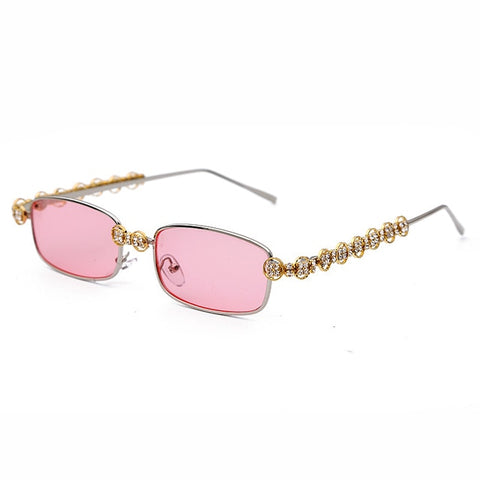 Image of Rectangle Rhinestone Sunglasses Women Fashion Steampunk Diamond Sun Glasses Crystal Vintage Shades Eyeglasses UV400 Oculos
