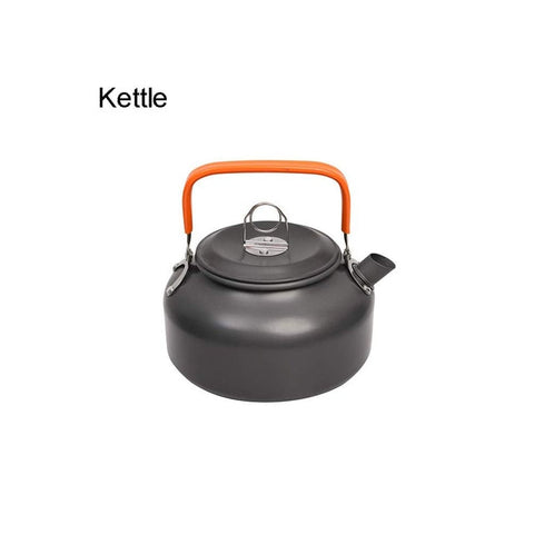Image of Camping Cookware Kit Outdoor Aluminum Cooking Set Water Kettle Pan Pot Travelling Hiking Picnic BBQ Tableware Equipment