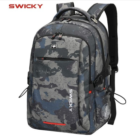 Male Multifunction USB charging fashion business casual travel anti-theft waterproof 15.6 inch Laptop men backpack