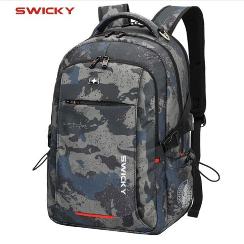 Image of Male Multifunction USB charging fashion business casual travel anti-theft waterproof 15.6 inch Laptop men backpack