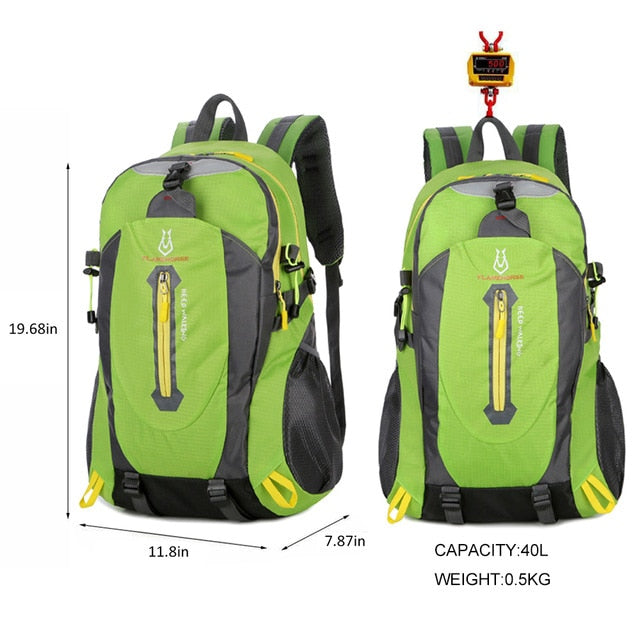 Waterproof Climbing Backpack Rucksack 40L Outdoor Sports Bag Travel Backpack Camping Hiking Trekking Bags