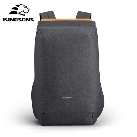 Image of Kingsons waterproof backpacks USB charging school bag anti-theft men and women backpack for laptop travelling