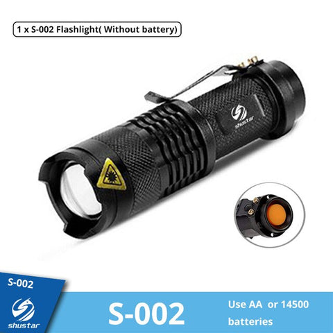 Image of Mini Rechargeable LED Flashlight Use XPE + COB lamp beads 100 meters lighting distance Used for adventure, camping, etc.
