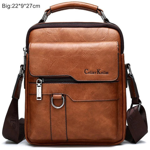Luxury Brand Men Messenger Bags Crossbody Business Casual Handbag Male Leather Shoulder Bag Large Capacity