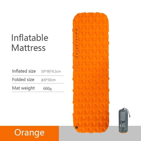 Image of Nylon TPU Sleeping Pad Lightweight Moisture-proof Air Mattress Portable Inflatable Mattress Camping Mat