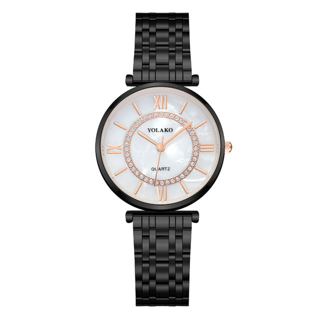 Women Watches Top Brand Luxury Fashion Diamond Ladies Wristwatches Stainless Steel Silver Mesh Strap Female Quartz Watch