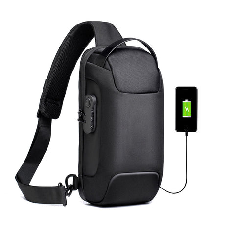 Image of Multifunction Crossbody Bag for Men Anti-theft Shoulder Messenger Bags Male Waterproof Short Trip Chest Bag