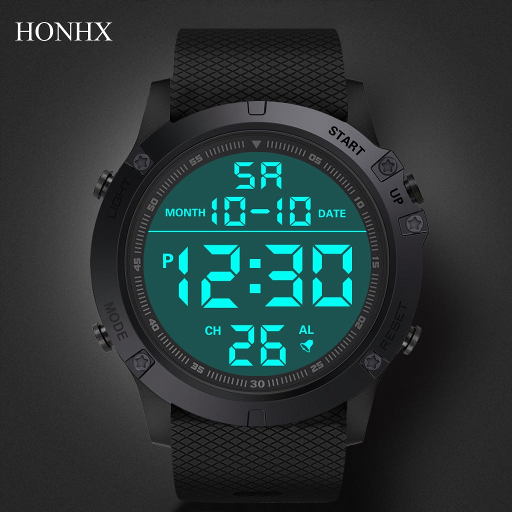 Men Sports Watches Fashion Chronos Countdown Men's Waterproof LED Digital Watch Man Military Clock