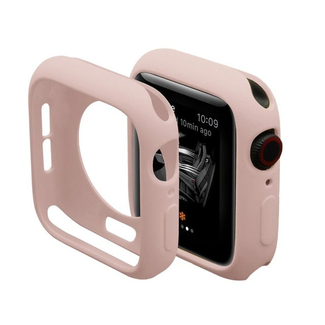 Watch Cover Case for Apple Watch 5/4/3/2/1 40mm 44mm colorful soft cases For iWatch Series 3 2 42mm 38mm