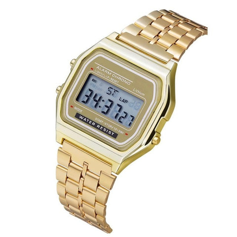 Image of Luxury Rose Gold Women Digital Watch Ultra-thin Steel LED Electronic Wrist Watch Luminous Clock Ladies Watch Montre Femme