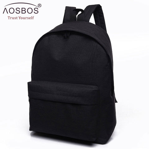 Image of Women Men Male Canvas black Backpack College Student School Backpack Bags for Teenagers Casual Rucksack Travel Daypack