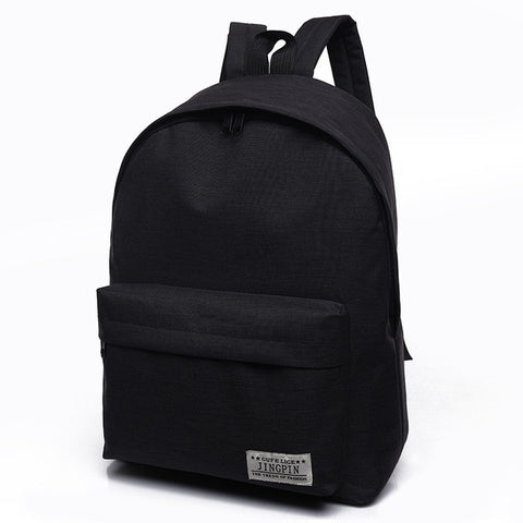 Women Men Male Canvas black Backpack College Student School Backpack Bags for Teenagers Casual Rucksack Travel Daypack