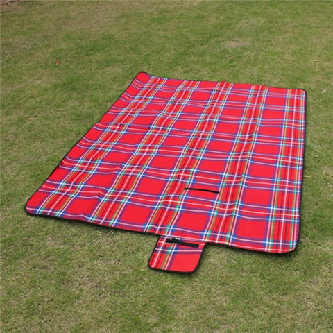 Image of VILEAD 2 Size Folding Camping Mat Outdoor Beach Picnic Lightweigt Waterproof Sleeping Camping Pad Mat Moisture proof Plaid Blanket