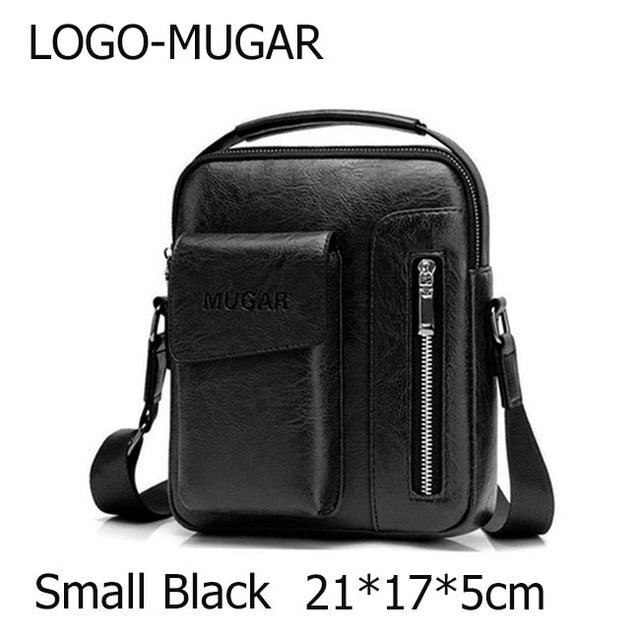 Casual Men Shoulder Bag Vintage Crossbody Bags High Quality Male Bag PU Leather Handbag Capacity Men Messenger Tote Bag
