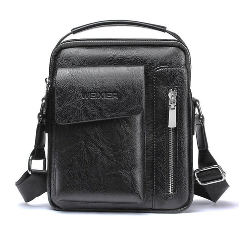 Image of Casual Men Shoulder Bag Vintage Crossbody Bags High Quality Male Bag PU Leather Handbag Capacity Men Messenger Tote Bag