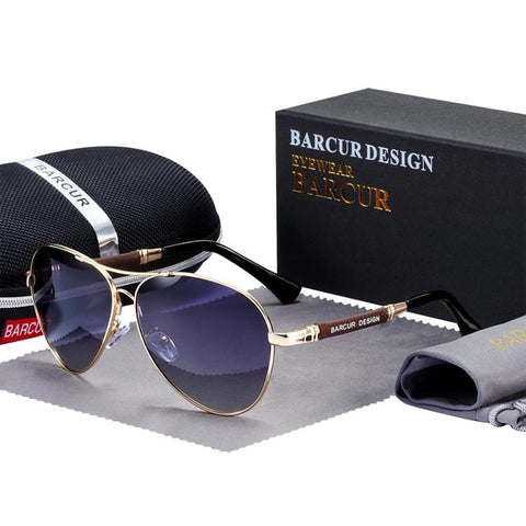 Image of BARCUR High Quality TR90 Sunglasses Polarized Men's Sun glasses Women Pilot UV400 Mirror