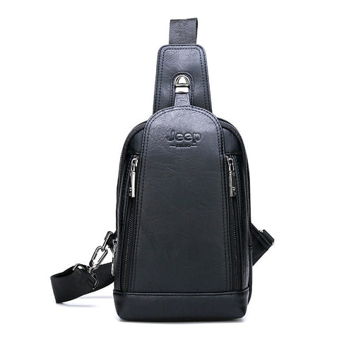 Travel Hiking Messenger Shoulder Bags Men's Large Capacity Sling Crossbody Bag Men Leather Bag