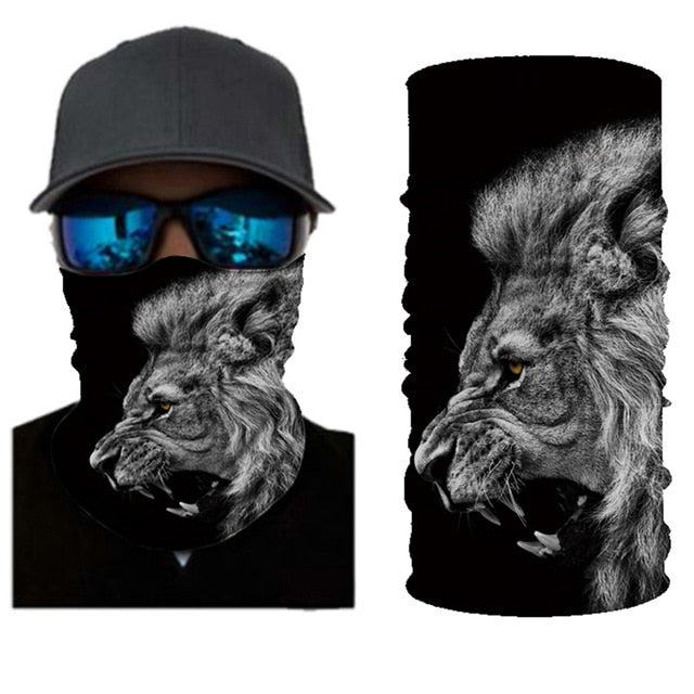 3D Seamless Bandanas Neck Gaiter Motorcycle Cycling Marvel Face Mask Men Women Headband Hiking Scarf Face Shield