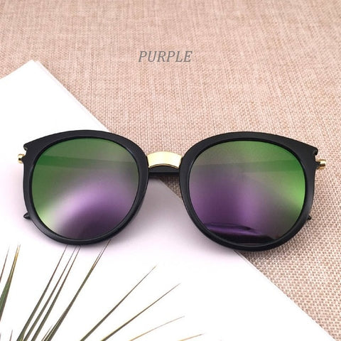 Image of Classic Round Vintage Sunglasses Women Fashion Brand Design Mirror Sun Glasses Female Shades Retro UV400