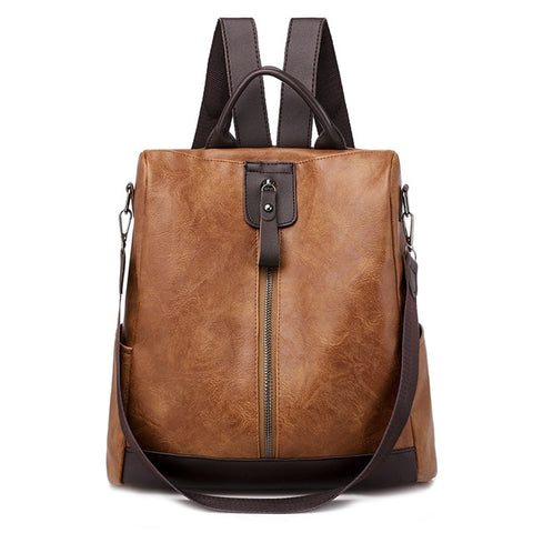 Image of Fashion Women Backpack High Quality Youth Leather Backpacks for Teenage Girls Female School Shoulder Bag