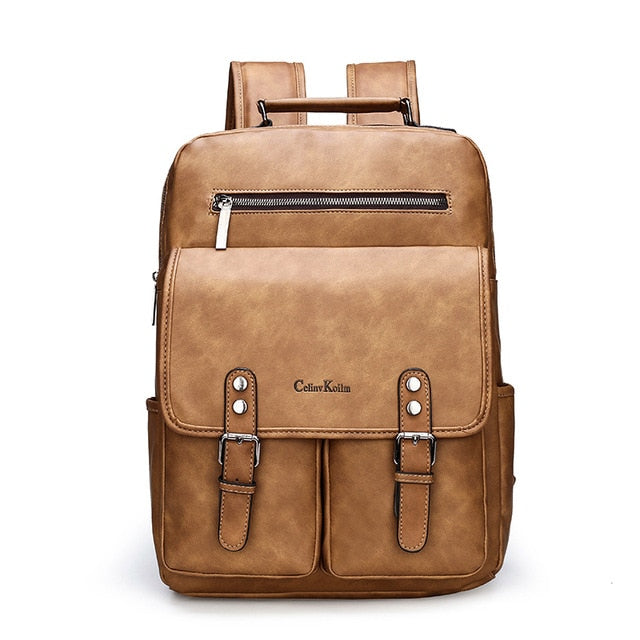 Anti theft Leather Women Backpack Laptop Travel Backpack Men Waterproof School Backpack Bag