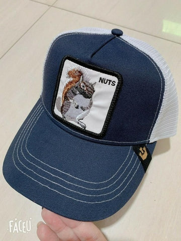 Image of Summer Animal Embroidery Baseball Caps Men's and Women's Universal Adjustable Shade Mesh Cap Dad Hat Truck Driver