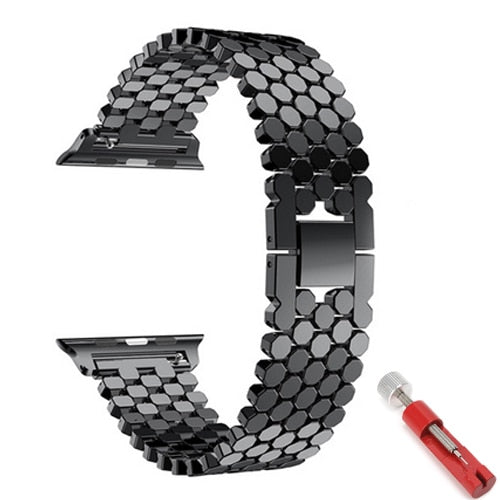 Strap for apple watch 5 band 44mm 40mm iwatch band 42mm 38mm stainless steel watchband metal Bracelet for series 6 4 3 38/44 mm