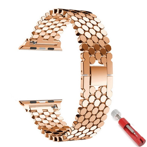 Image of Strap for apple watch 5 band 44mm 40mm iwatch band 42mm 38mm stainless steel watchband metal Bracelet for series 6 4 3 38/44 mm