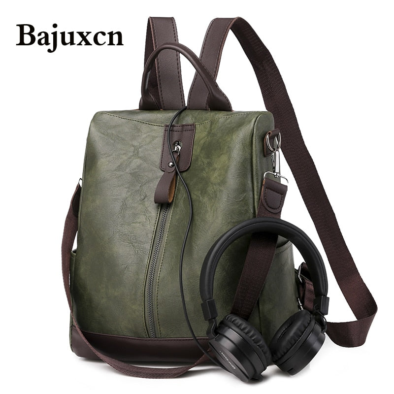 Fashion Women Backpack High Quality Youth Leather Backpacks for Teenage Girls Female School Shoulder Bag